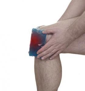 Kühlung Knie